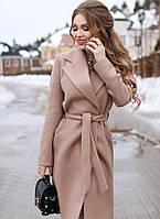 Женское кашемировое пальто батальное