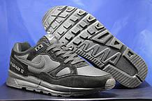 Кросівки чоловічі осінні чорні в стилі Nike air