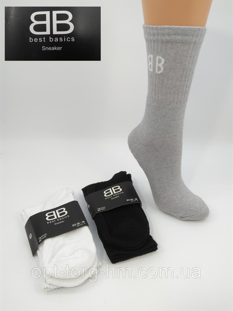 """Стопа махровая однотонная """"BB""""-""""GI"""" Полумахровые носки. (35-38 ОБУВЬ)"""