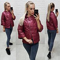 Куртка ветровка с рукавом 3/4 ХИТ 2019/20, арт М524, цвет вишнёвый, фото 1