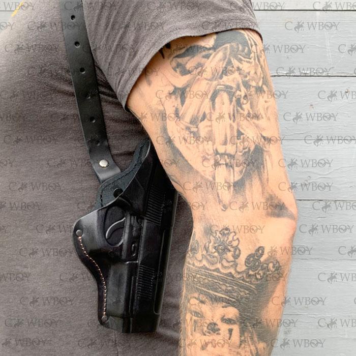 Кобура оперативная Beretta 92 формованная  (кожа, чёрная)