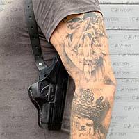 Кобура оперативная Beretta 92 формованная  (кожа, чёрная), фото 1