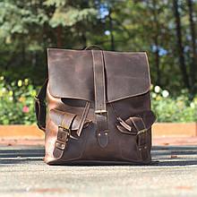 """Рюкзак чоловічий шкіряний ручної роботи """"Rock"""". Колір коричневий"""