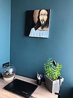 "Картина маслом на религиозную тематику ""Статуя Иисуса"""