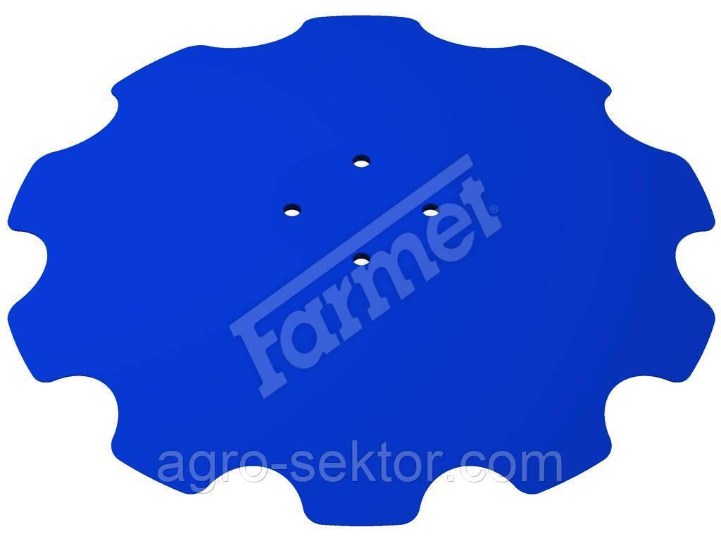 Диск бороны дисковой 510*60*6мм 4отв. Farmet Softer 6 3007653 9002598