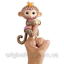 Интерактивная ручная блестящая обезьянка со стразами Fingerlings WowWee