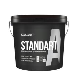 Фасадная краска Kolorit Standart A 4.5л (База С) транспарентная