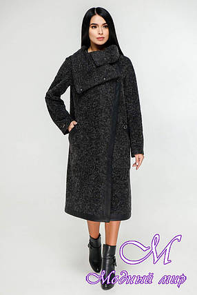 Женское длинное осеннее пальто (р. 44-54) арт. 1184 Тон 260, фото 2