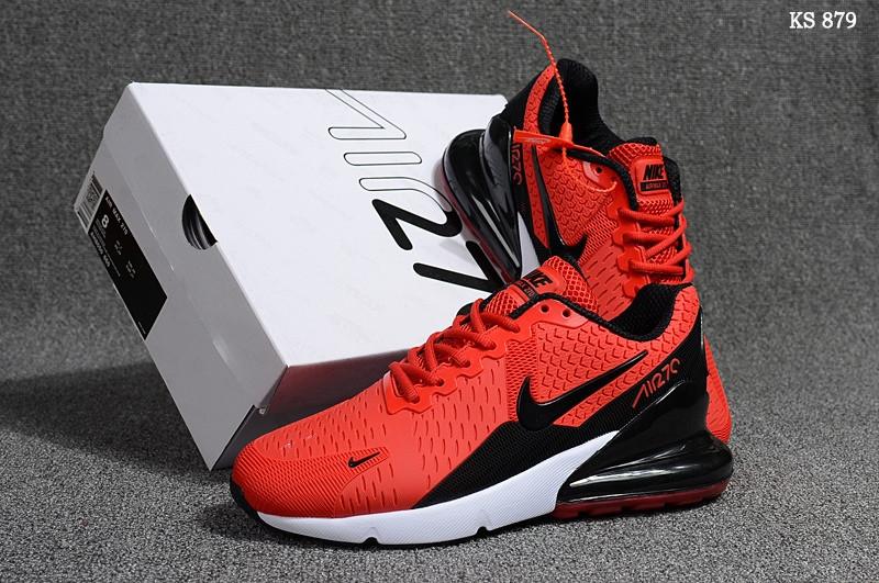 Кросівки чоловічі Nike Air Max 270 - найк аір макс, червоні / чоловічі кросівки найк (Топ репліка ААА+)