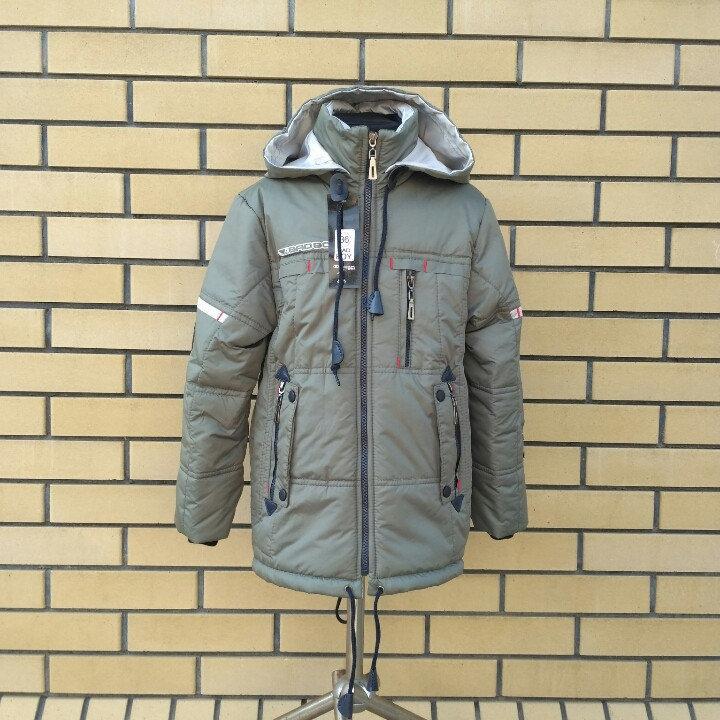 Куртка-парка для мальчиков подростков   36-46 серый