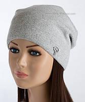 Шерстяная женская шапочка Лембар светло-серая