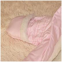 Комбинезон мешочек термо на овчине розового цвета ТМ Бемби (Украина) размеры  62, фото 2