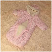 Комбинезон мешочек термо на овчине розового цвета ТМ Бемби (Украина) размеры  62, фото 3