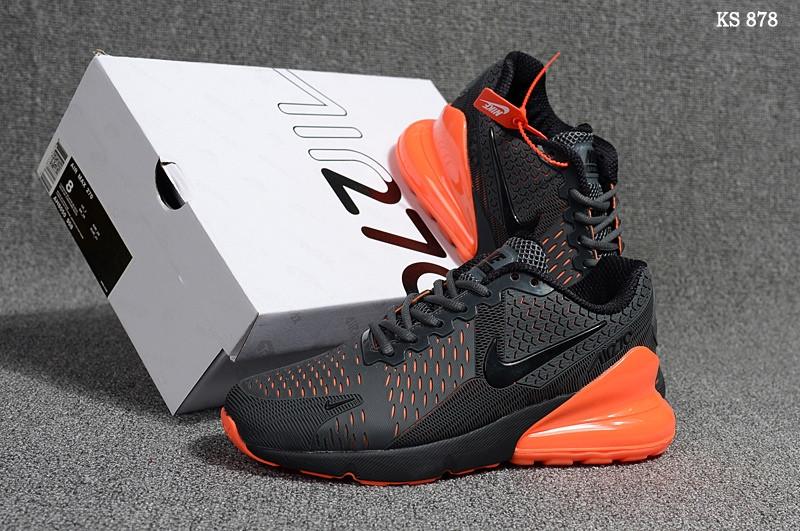 Кросівки чоловічі Nike Air Max 270 - найк аір макс, сірі / чоловічі кросівки найк (Топ репліка ААА+)