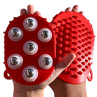 Массажеры силиконовые с шариками двусторонние на руку