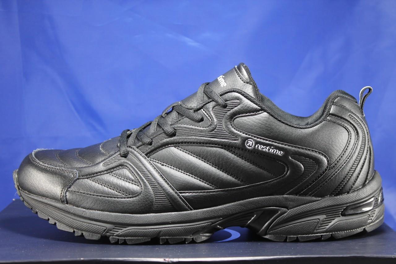 Мужские демисезонные черные кроссовки больших размеров Restime 47,48,49