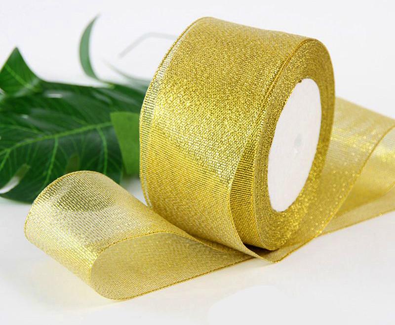 Лента парча 5 см  бунт - 23 метра, цвет золото