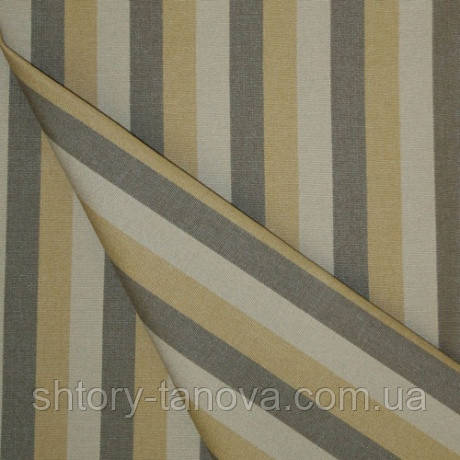 Непромокаємий тканину для чохлів, наматрацників, шезлонгів Бежевий тефлон Дралон смужка
