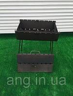 Мангал-чемодан на 6 шампуров складной - 3мм