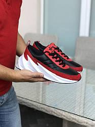 Кроссовки адидас шаркс красные черные  белые мужские спортивные (реплика) Adidas Sharks Red Black