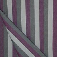 Уличная ткань дралон полоска серо-фиолетовая для уличной мебели, тентов, зонтов,Ткань для крыши садовой качели