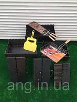 Мангал-чемодан на 12 шампуров складной - 3мм, фото 1