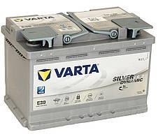 АККУМУЛЯТОР 6СТ-70A VARTA SILVER DYNAMIC START-STOP PLUS AGM E39 (570901076),12V,70AH (-/+) ВАРТА, 12В, 70АЧ,