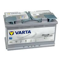 АККУМУЛЯТОР 6СТ-80A VARTA SILVER DYNAMIC START-STOP PLUS AGM F21 (580901080),12V,80AH (-/+) ВАРТА, 12В, 80АЧ,