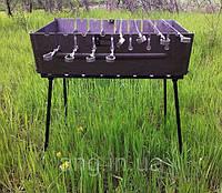 Мангал-чемодан на 12 шампуров складной - 2мм, фото 1