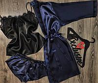 Халат+пижама набор одежды для сна и дома.