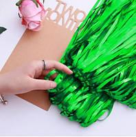 Новогодний дождик зеленый для фотозоны - 1*1м