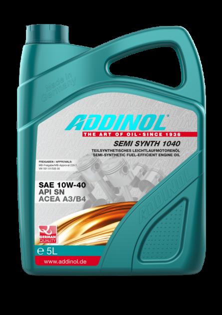 Моторное масло Addinol SEMI SYNTH 1040 SAE 10W-40 5 л