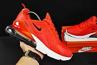 Кроссовки Nike Air Max 270 мужские. Красные, в стиле Найк Аир Макс 270. Текстиль. код KR-20625