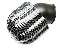 Фильтр нулевого сопротивления воздушный карбон металл изогнутый Ø42 мм