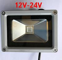 Светодиодный прожектор 10W 12-24 Вольт  6000К  Код.59316