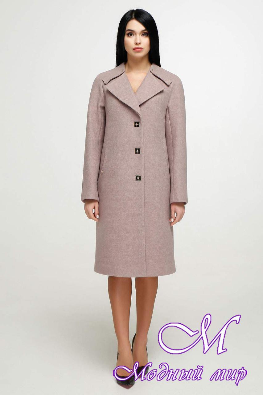 Красивое женское пальто осень весна (р. 44-54) арт. 1187 Тон 4
