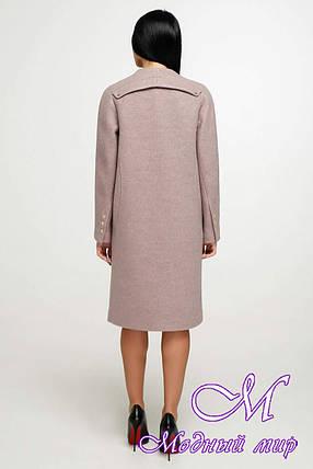 Красивое женское пальто осень весна (р. 44-54) арт. 1187 Тон 4, фото 2