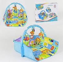 Коврик для младенца 3 подвесные мягкие игрушки