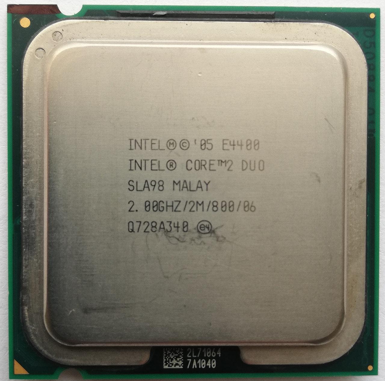Процессор Intel Core 2 Duo E4400 M0 SLA98 2.00GHz 2M Cache 800 MHz FSB Socket 775 Б/У