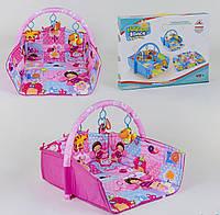 Коврик для младенца с подвесными мягкими игрушками