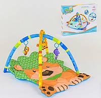 Коврик для младенца в виде Собачки с подвесными игрушками
