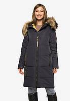 Длинная зимняя женская куртка с мехом, утеплитель биосиликон Modniy Oazis синий 90390