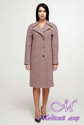 Стильное женское пальто весна осень (р. 44-54) арт. 1187 Тон 8/2, фото 2