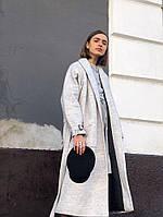 Пальто светло-серое шерстяное, фото 1