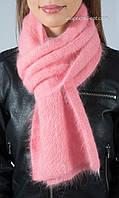 Красивый вязаный женский шарф с люрексом S-37 цвет персик