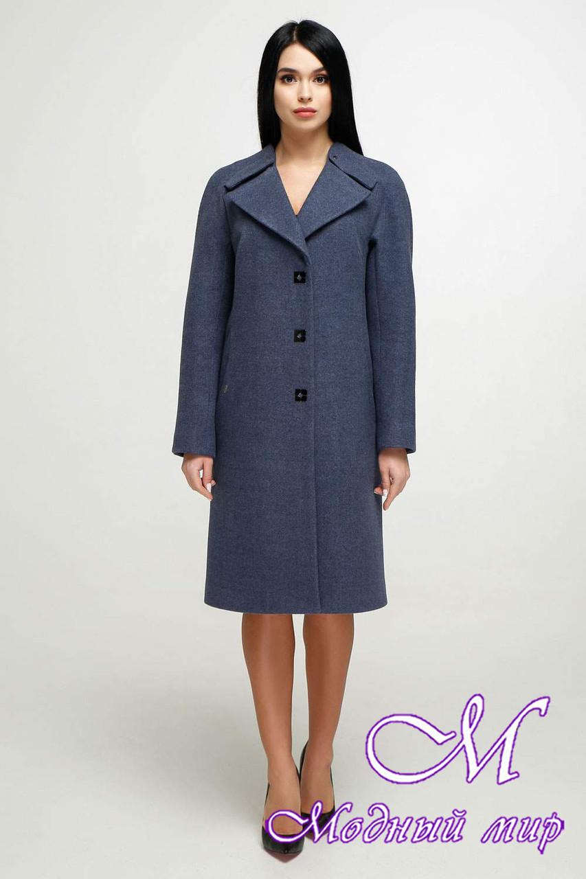 Женское демисезонное пальто осень весна (р. 44-54) арт. 1187 Тон 11