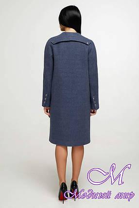 Женское демисезонное пальто осень весна (р. 44-54) арт. 1187 Тон 11, фото 2