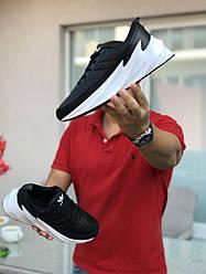 Кроссовки мужские Адидас шаркс черные белые осень повседневные (реплика) Adidas Sharks Black