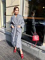 Пальто серое кимоно