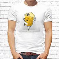 """Чоловіча футболка з принтом """"Пиво"""" Push IT"""